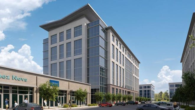 AIG plans to move its offices to Seven Springs West, the 203,000-square-foot building rising off Old Hickory Boulevard near Brentwood.