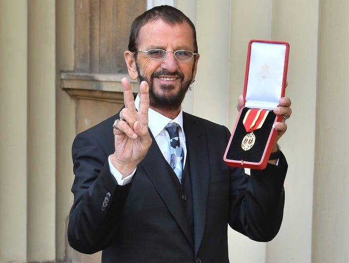 Richard Starkey, better knonwn as Ringo Starr, poses