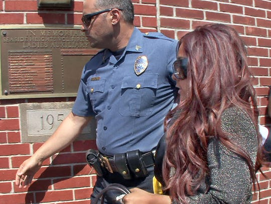 "Nicole ""Snooki"" Polizzi arrives at Seaside Heights Municipal Court on Sept. 8, 2010."