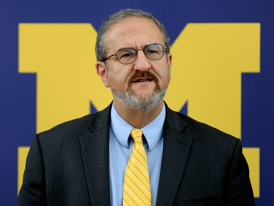 University of Michigan President Mark Schlissel speaks