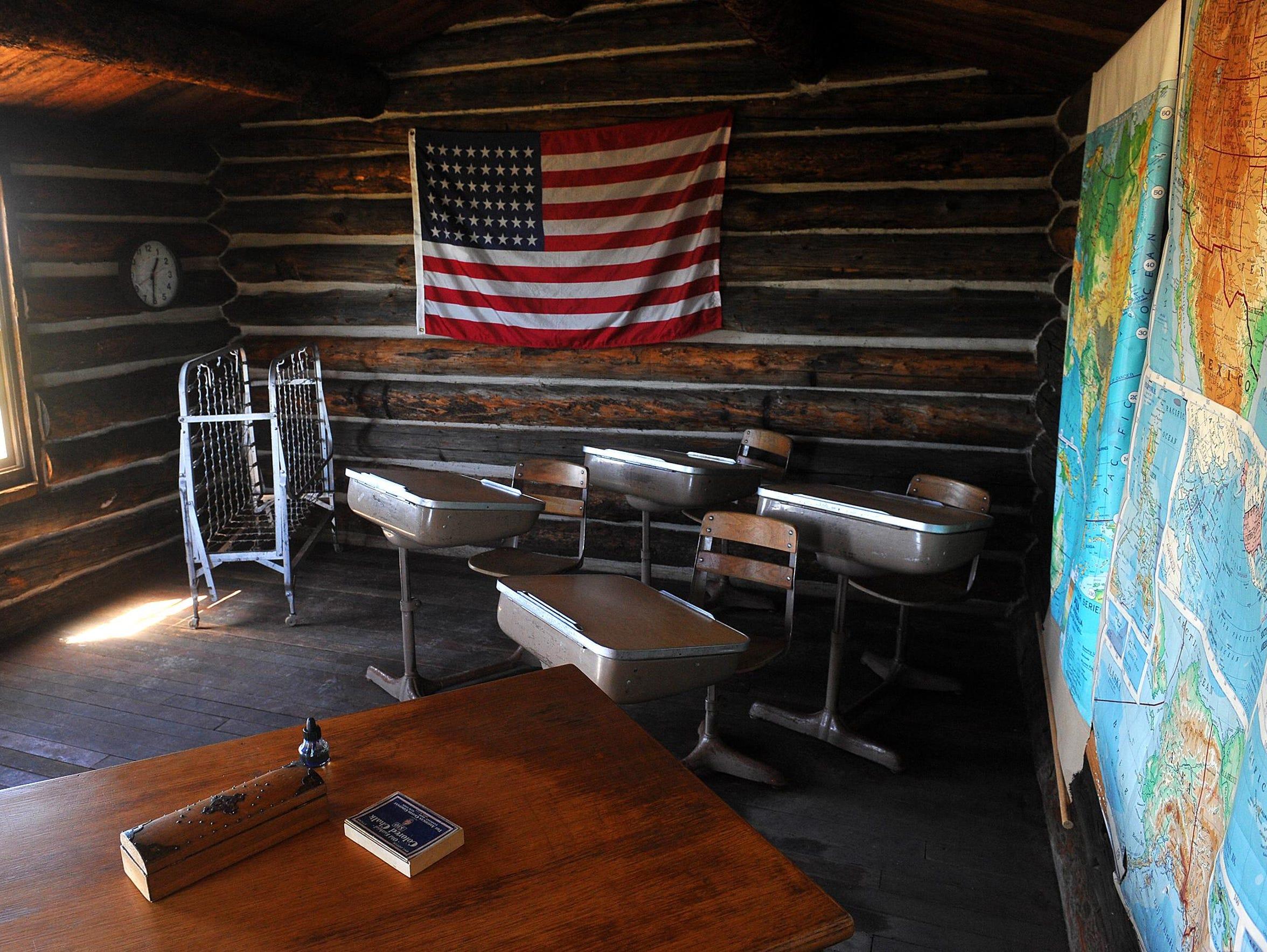 Prairie Union School, a one-room school house on the