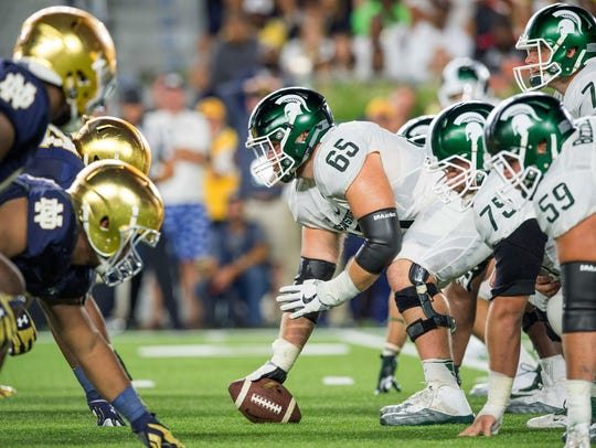 Sep 17, 2016; South Bend, IN, USA; Michigan State Spartans