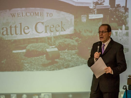 Battle Creek Mayor Dave Walters delivered his State