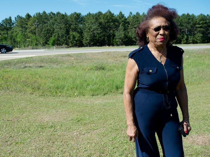 Josephine Bolling McCall visits the site of her father's