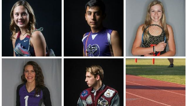 An illustration of The Desert Sun's top fall athlete selections from 2017.