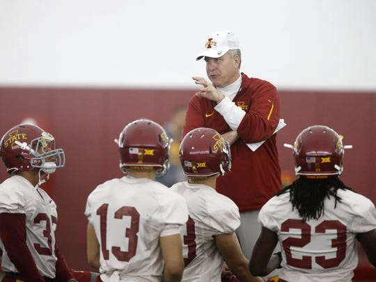 Iowa State defensive coordinator/safeties coach Jon Heacock has been putting an emphasis on turnovers.