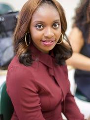 Diamond Clark-McQueen, a graduate student in public