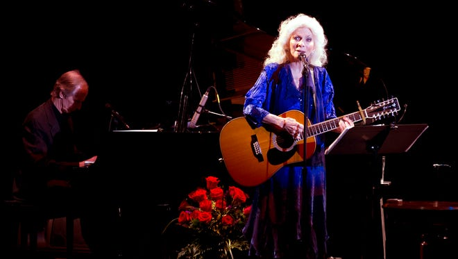 Singer-songwriter Judy Collins performs Sunday before a sold-out crowd at the Rio Grande Theater downtown.