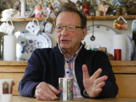 Larry Sanders at home in his kitchen in Oxford, England, Monday, Feb. 15, 2016.
