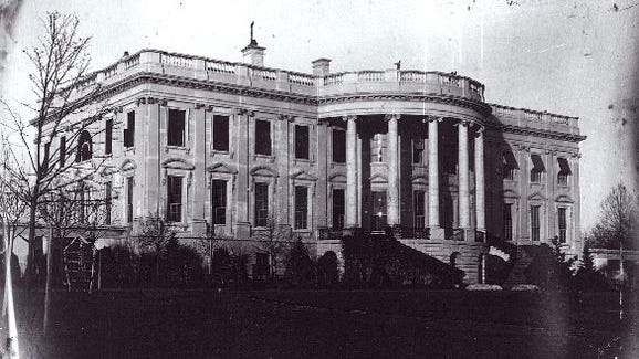 The White House in 1846.