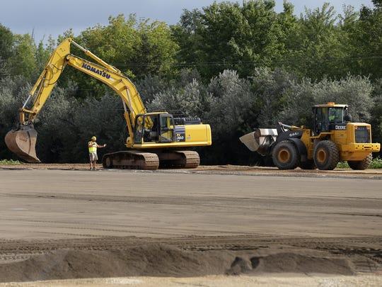 Construction continues on the new Kaukauna High School sports complex.