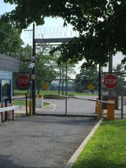 The entrance of the Westchester County Jail in Valhalla.