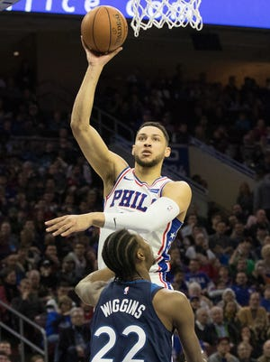 Ben Simmons notched his 10th triple-double of the season for the Sixers.