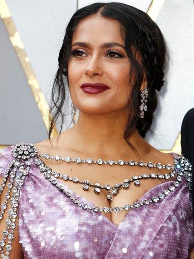 Salma Hayek wore more than $4.2 million of Winston