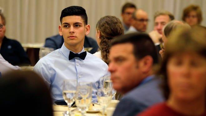 Nark Miranda of South River High School attends the Dan Hayston Memorial Sportsmanship Awards at The Pines Manor in Edison, NJ Wednesday, May 10, 2017.