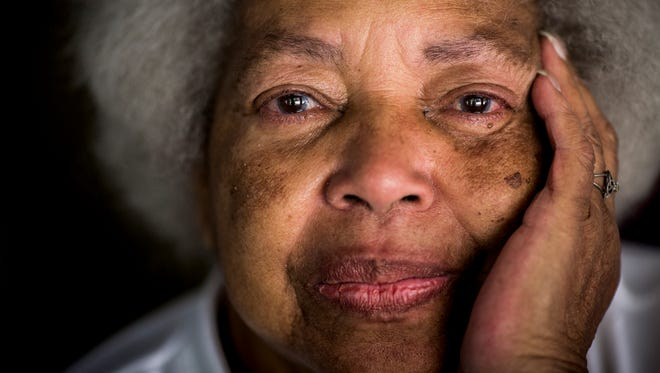 Margaret Daniels, 75, poses for a portrait at the first annual Mothers Against Gun Violence cookout Saturday, September 9, 2017 at Burnet Woods Park. Her grandson, Marcus Daniels, was shot and killed April 13, 2012. She has been attending homicide monthly support meetings hosted by the victims advocates office in the Cincinnati Police Department.