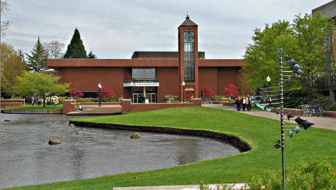 The Mark Hatfield Library at Willamette University opened with a dedication on Sept. 4, 1986.