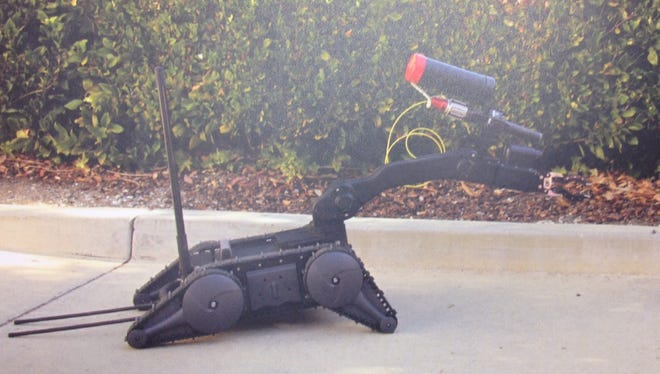 A tactical robot Rankin Sheriff Bryan Bailey hopes to purchase for his department