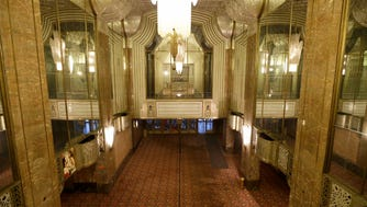 The Warner Grand Theatre, which the Milwaukee Symphony Orchestra plans to convert to its new performance hall, includes an Art Deco lobby.