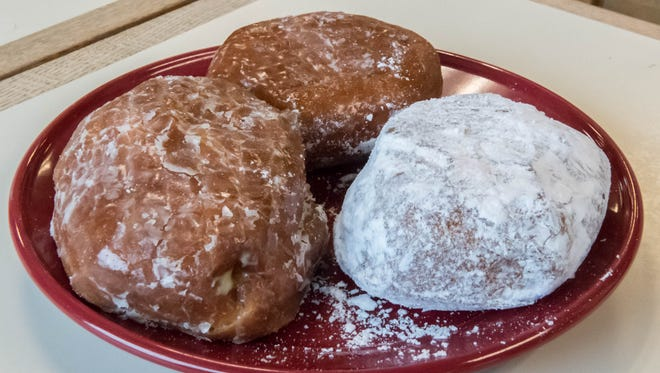 Fresh paczkis on Tuesday at Sweetwater's Donut Mill in Battle Creek.
