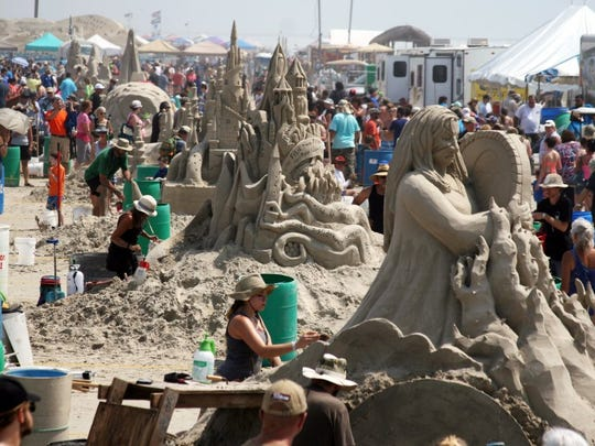 The 2016 Texas Sandfest drew thousands to the annual festival.
