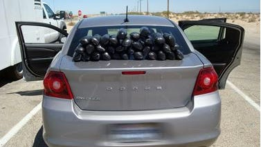Border Patrol agents seized more than 50 pounds of methamphetamine Thursday.