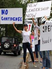 Chappaqua parents protested the school district over