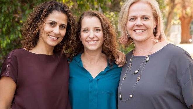 HopSkipDrive founders Carolyn Yashari Becher, Joanna McFarland and  Janelle McGlothlin. The company just landed $3.9 million in seed funding.