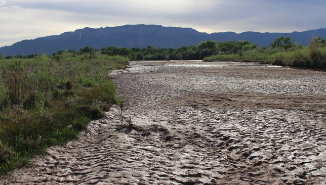 In early May, the Rio Grande was suffering from a lack of snowmelt within its channel.