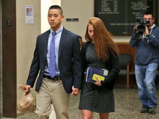 Charles Tan leaves court on Thursday, Oct. 1, 2015,