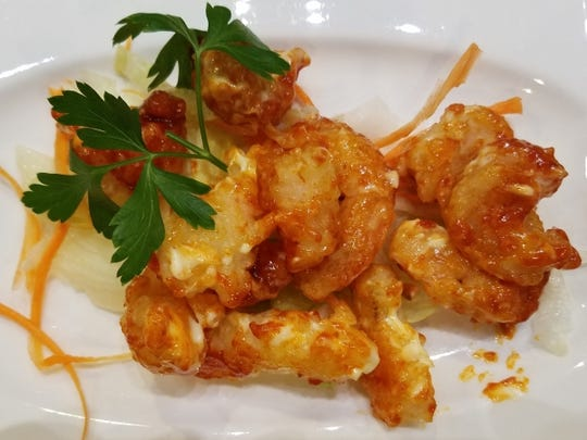Kaishin's  ebi mayo is plump shrimp coated in seasoned flour and flash-fried. They were then tossed in a delicious spicy chili mayo.
