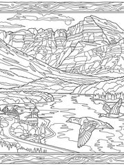 """""""Glacier National Park Adult Coloring Book"""" by Dave"""