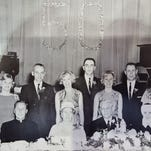 The Hudak family, including tallest child Edward (then 26 years old), back-row center with flat-top haircut.