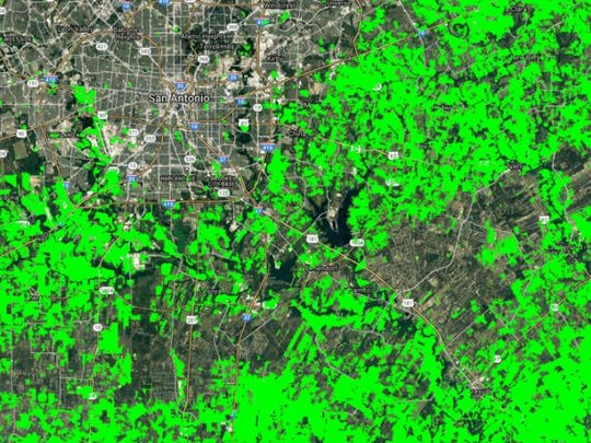 This map shows croplands in Texas in a nominal 30-meter resolution. This is part of the GFSAD30 Project.