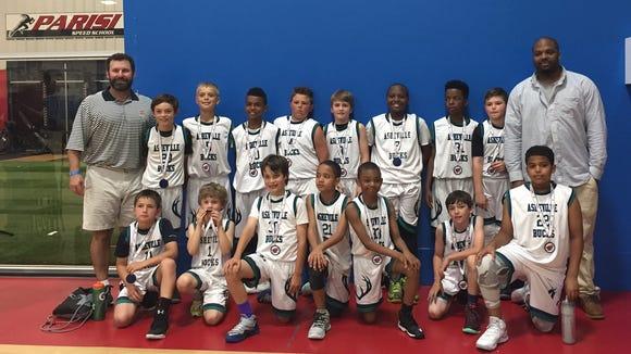 The Asheville Bucks fourth-grade basketball team.