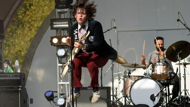Beach Slang was one of the six bands that played the sixth annual Analog-A-Go-Go Sunday at Bellevue State Park near Wilmington.