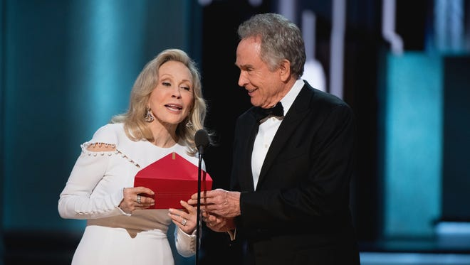 Faye Dunaway and Warren Beatty present during the 89th annual Academy Awards on Feb. 26, 2017.