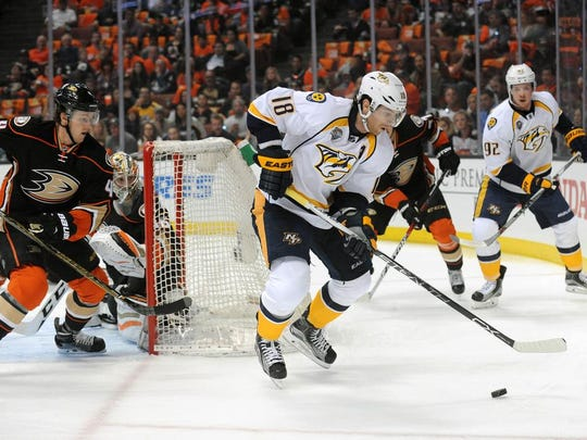 Predators forward James Neal scored the second-fastest goal to start a playoff game in team history 35 seconds into Friday's Game 1 win.
