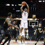 Florida State guard Xavier Rathan-Mayes pulls up for a jumper in Sunday's 76-71 win over VCU Sunday in Atlanta. Rathan-Mayes led FSU with a game-high 23 points.