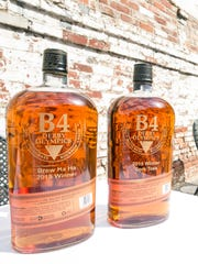 Customized bottles of Bulleit Bourbon served as trophies for individual events at the B4 Derby Olympics. April 2015