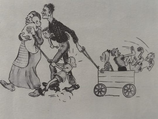 Sam Hinton created this drawing of the McKinney family