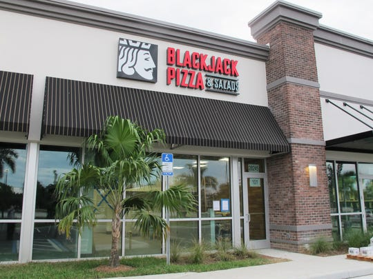 Blackjack Pizza will be the first business to open in Askar Center, a retail strip under construction along the eastern edge of U.S. 41 south of Bonita Beach Road in Bonita Springs.