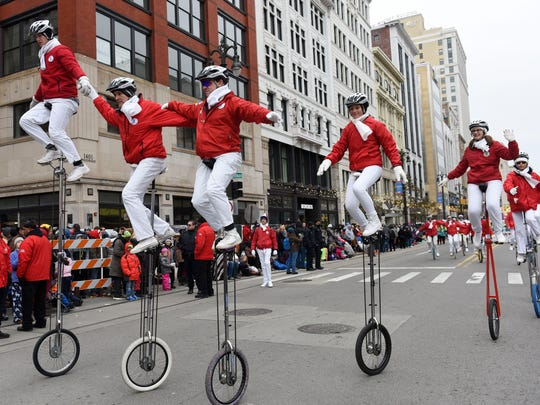 Redford Township Unicycle Club members show their skills
