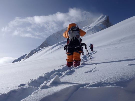 Members of a mountaineering team from California, Colorado
