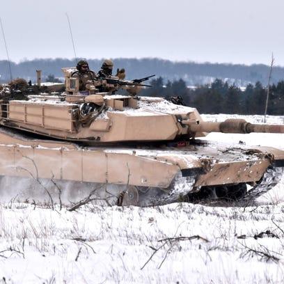 U.S.Marine Corp reservists take part in Winter Training