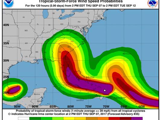Hurricane Irma Path Puts South Carolina In Crosshairs