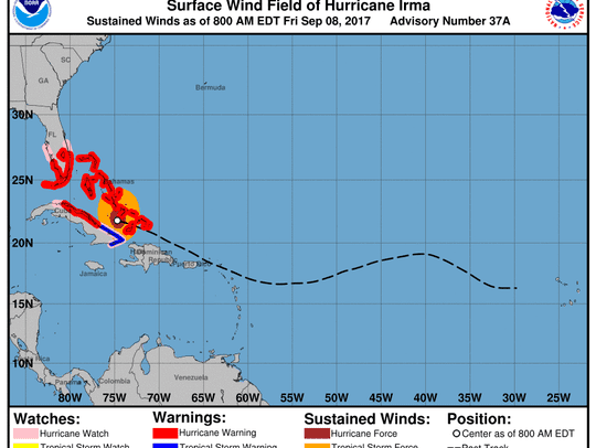 Hurricane Irma 8 a.m. Sept. 8, 2017