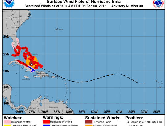 Hurricane Irma 11 a.m. Sept. 8, 2017