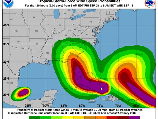 Hurricane Irma 2 p.m. Sept. 8, 2017
