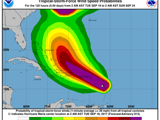 Maria made landfall in Dominica Monday night as a Category